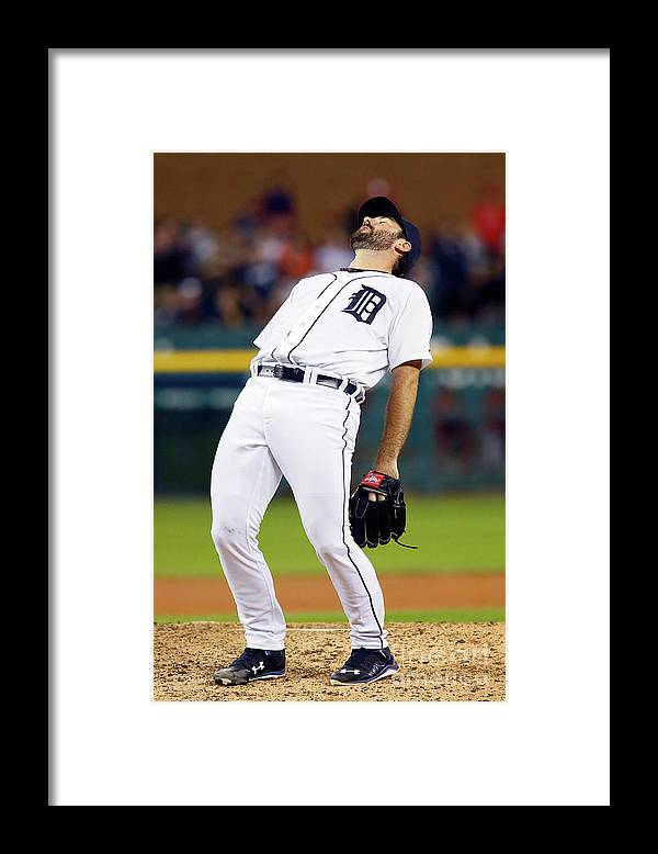Ninth Inning Framed Print featuring the photograph Justin Verlander and Chris Iannetta by Duane Burleson