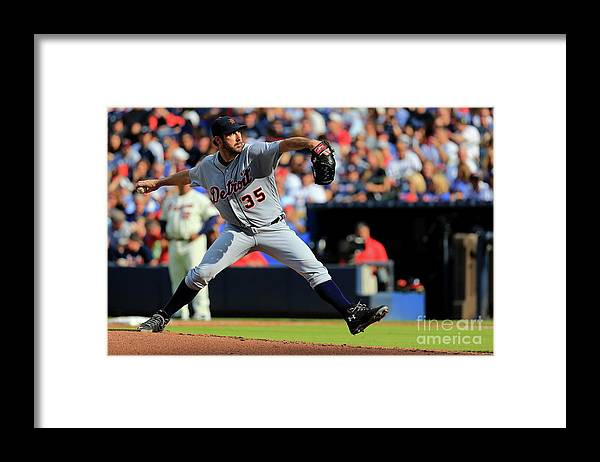 Atlanta Framed Print featuring the photograph Justin Verlander by Daniel Shirey