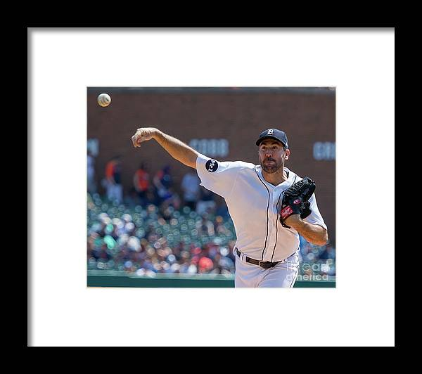 Three Quarter Length Framed Print featuring the photograph Justin Verlander by Dave Reginek