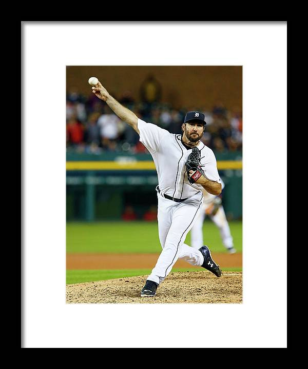 Ninth Inning Framed Print featuring the photograph Justin Verlander by Duane Burleson