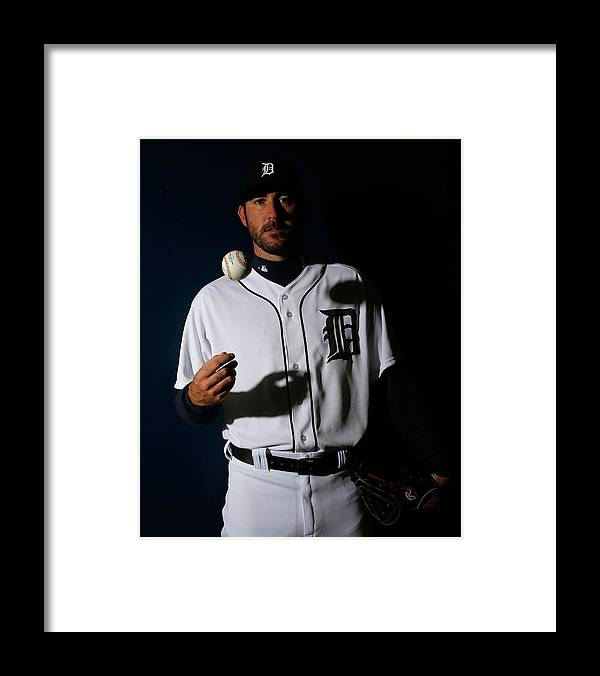 Media Day Framed Print featuring the photograph Justin Verlander by Kevin C. Cox