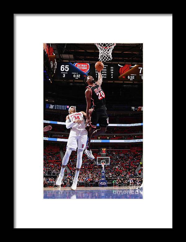 Justise Winslow Framed Print featuring the photograph Justise Winslow by Brian Sevald