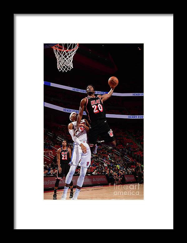 Justise Winslow Framed Print featuring the photograph Justise Winslow by Chris Schwegler