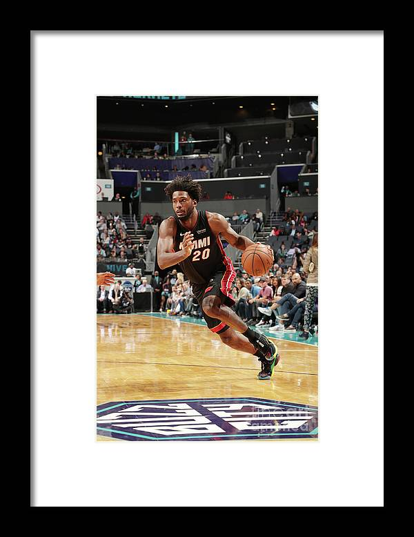 Justise Winslow Framed Print featuring the photograph Justise Winslow by Kent Smith