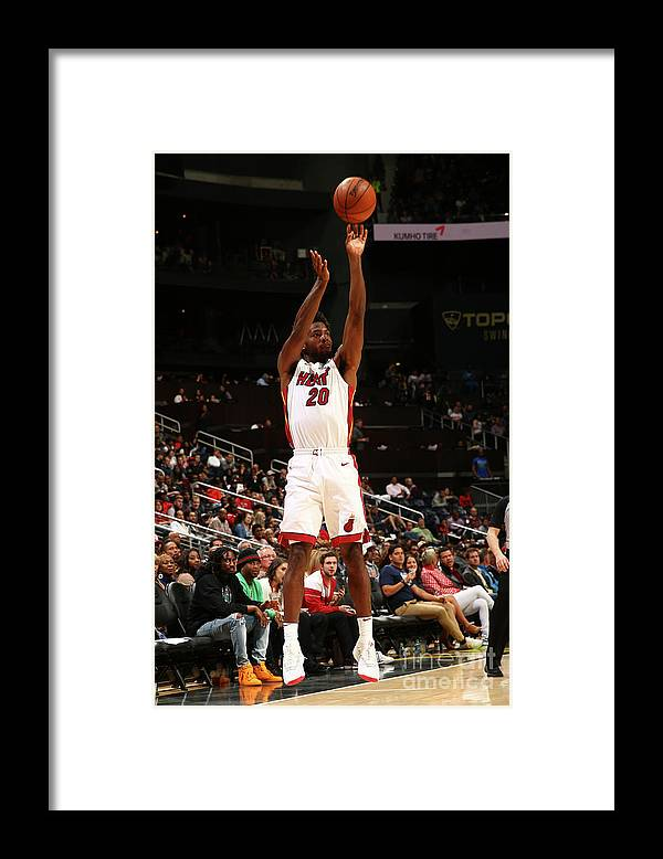 Atlanta Framed Print featuring the photograph Justise Winslow by Kevin Liles