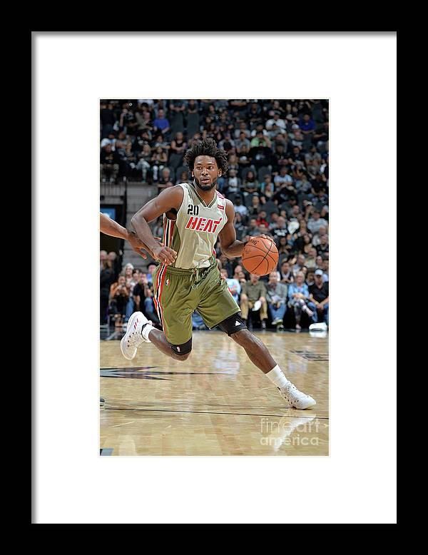 Justise Winslow Framed Print featuring the photograph Justise Winslow by Mark Sobhani