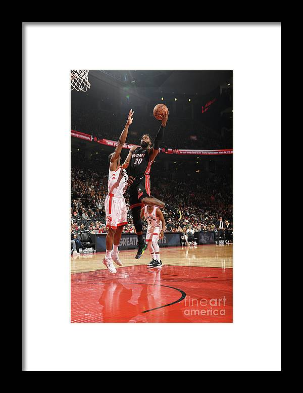 Justise Winslow Framed Print featuring the photograph Justise Winslow by Ron Turenne