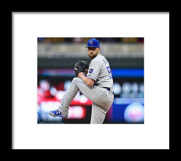 People Framed Print featuring the photograph Kansas City Royals v Minnesota Twins by Hannah Foslien