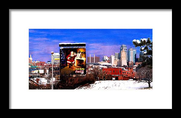 City Framed Print featuring the photograph Kansas City Skyline at Christmas by Steve Karol
