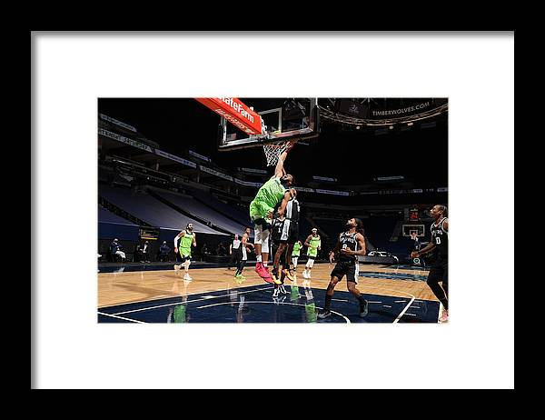 Nba Pro Basketball Framed Print featuring the photograph Karl-anthony Towns by David Sherman