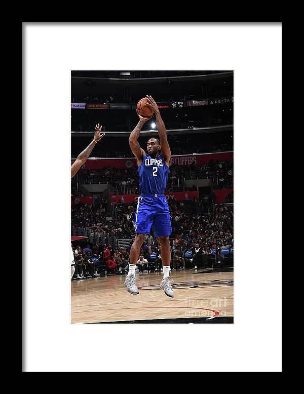 Nba Pro Basketball Framed Print featuring the photograph Kawhi Leonard by Adam Pantozzi