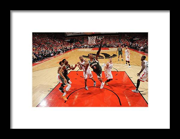 Playoffs Framed Print featuring the photograph Kawhi Leonard and Eric Bledsoe by Ron Turenne