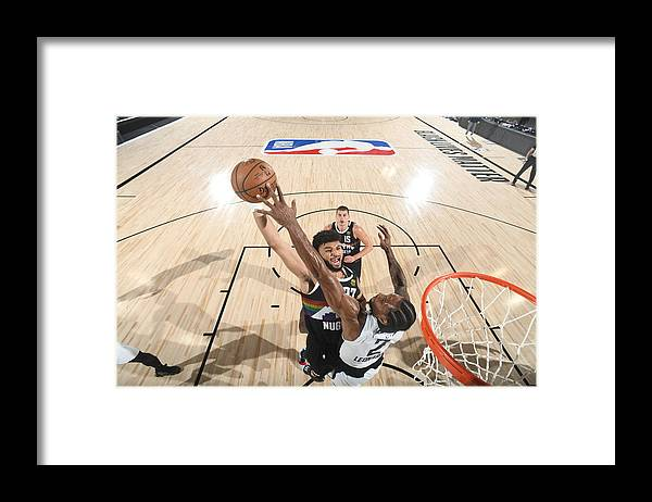 Playoffs Framed Print featuring the photograph Kawhi Leonard and Jamal Murray by Andrew D. Bernstein