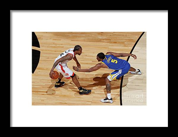 Playoffs Framed Print featuring the photograph Kawhi Leonard and Kevon Looney by Mark Blinch