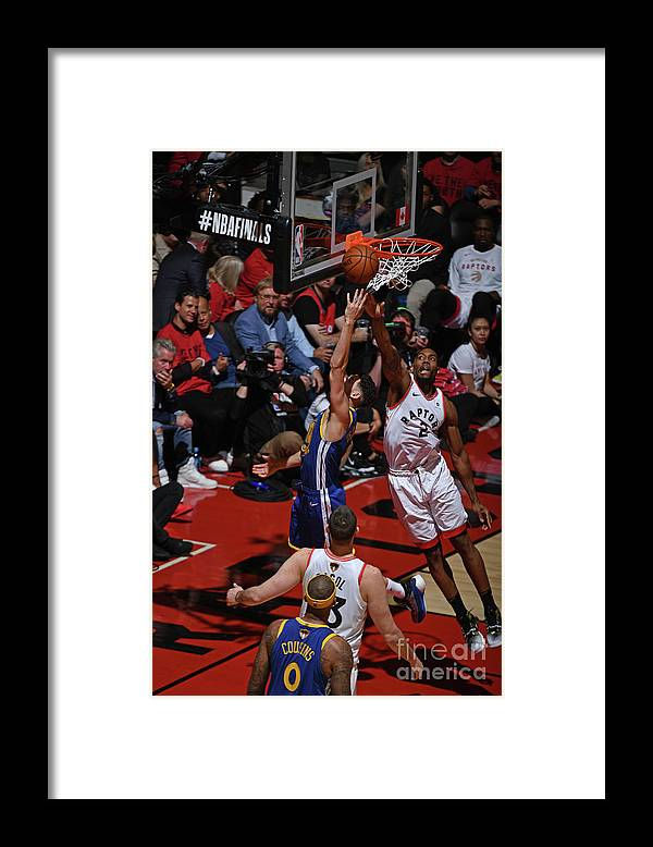 Playoffs Framed Print featuring the photograph Kawhi Leonard and Klay Thompson by Garrett Ellwood