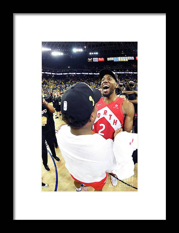 Playoffs Framed Print featuring the photograph Kawhi Leonard and Kyle Lowry by Andrew D. Bernstein