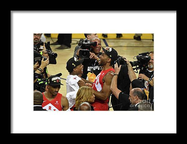 Playoffs Framed Print featuring the photograph Kawhi Leonard and Kyle Lowry by Garrett Ellwood