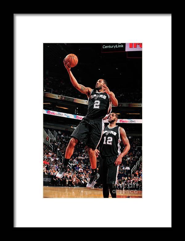 Nba Pro Basketball Framed Print featuring the photograph Kawhi Leonard by Barry Gossage
