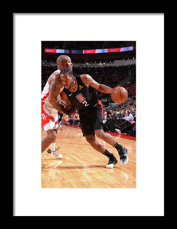 Nba Pro Basketball Framed Print featuring the photograph Kawhi Leonard by Bill Baptist