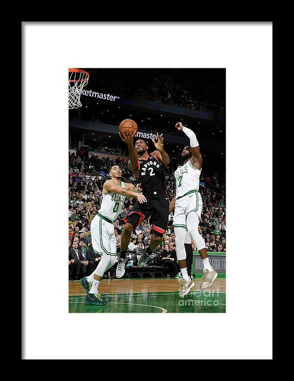 Nba Pro Basketball Framed Print featuring the photograph Kawhi Leonard by Brian Babineau