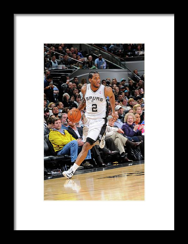 Nba Pro Basketball Framed Print featuring the photograph Kawhi Leonard by D. Clarke Evans