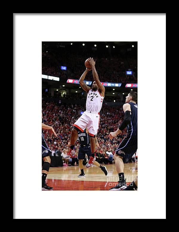 Playoffs Framed Print featuring the photograph Kawhi Leonard by David Sherman