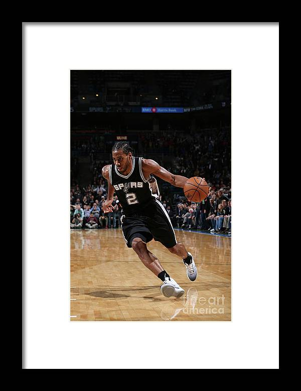 Nba Pro Basketball Framed Print featuring the photograph Kawhi Leonard by Gary Dineen