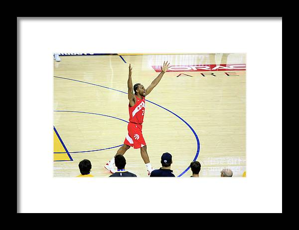 Playoffs Framed Print featuring the photograph Kawhi Leonard by Jack Arent