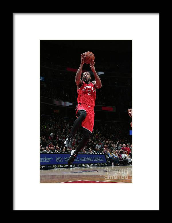 Nba Pro Basketball Framed Print featuring the photograph Kawhi Leonard by Ned Dishman
