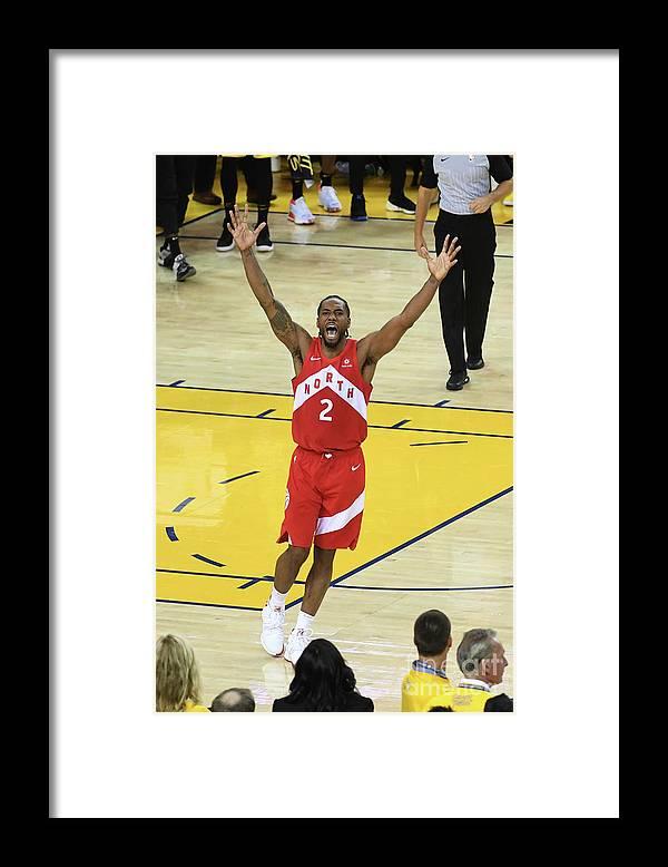 Playoffs Framed Print featuring the photograph Kawhi Leonard by Noah Graham