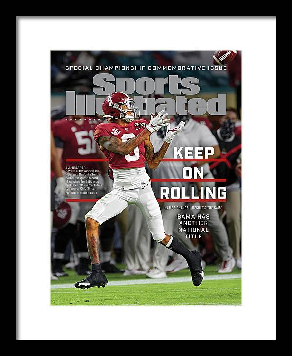 Commemorative Framed Print featuring the photograph Keep on Rolling Alabama Championship Sports Illustrated Cover by Sports Illustrated