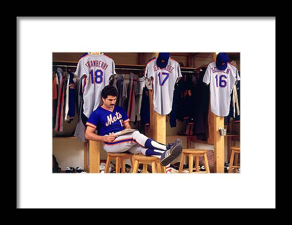 1980-1989 Framed Print featuring the photograph Keith Hernandez by Ronald C. Modra/sports Imagery