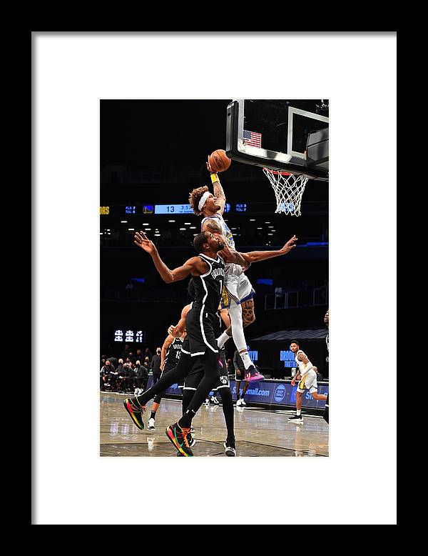 Nba Pro Basketball Framed Print featuring the photograph Kelly Oubre and Kevin Durant by Jesse D. Garrabrant