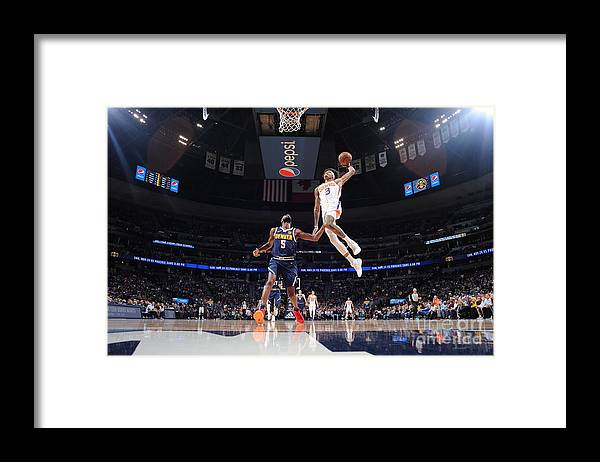Nba Pro Basketball Framed Print featuring the photograph Kelly Oubre by Bart Young