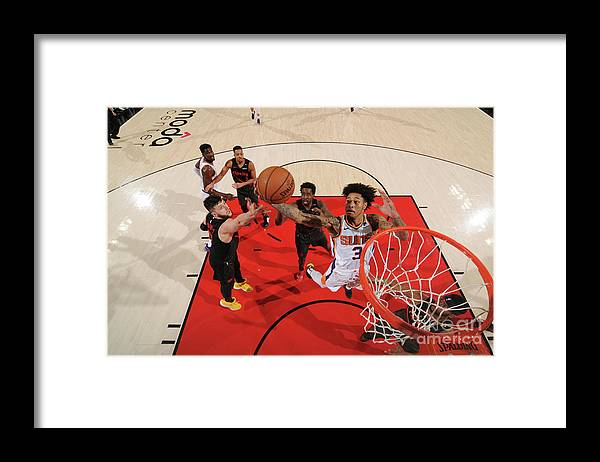 Nba Pro Basketball Framed Print featuring the photograph Kelly Oubre by Cameron Browne