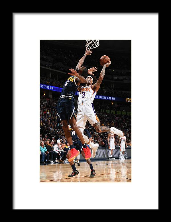 Nba Pro Basketball Framed Print featuring the photograph Kelly Oubre by Garrett Ellwood