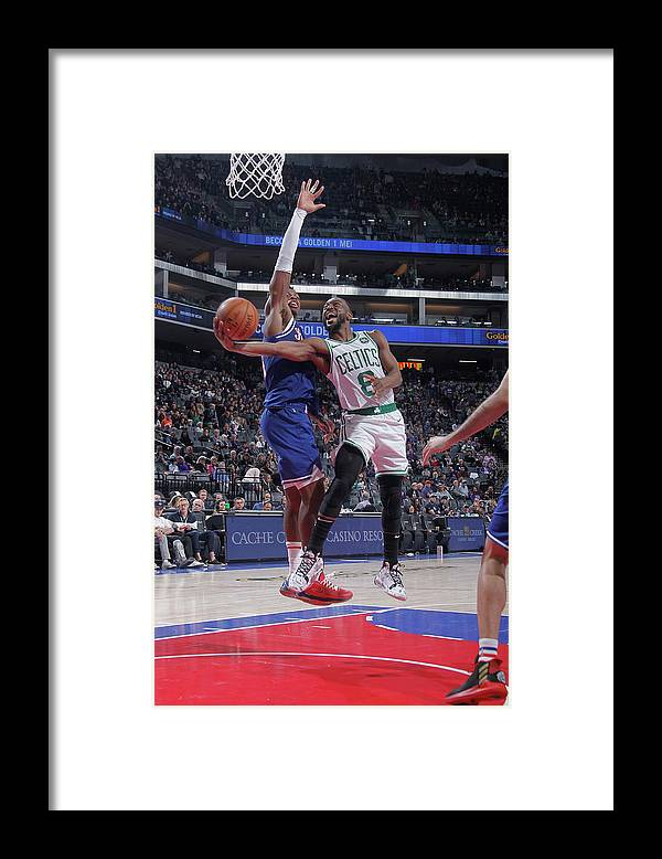Kemba Walker Framed Print featuring the photograph Kemba Walker and Buddy Hield by Rocky Widner