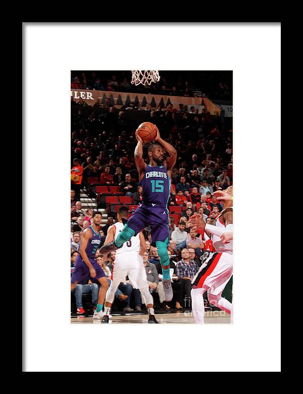 Kemba Walker Framed Print featuring the photograph Kemba Walker by Cameron Browne