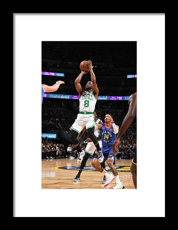 Kemba Walker Framed Print featuring the photograph Kemba Walker by Garrett Ellwood