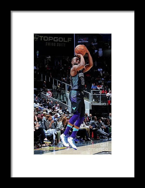 Atlanta Framed Print featuring the photograph Kemba Walker by Scott Cunningham