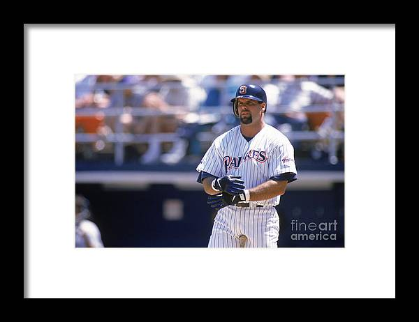 Adjusting Framed Print featuring the photograph Ken Caminiti by Otto Greule Jr