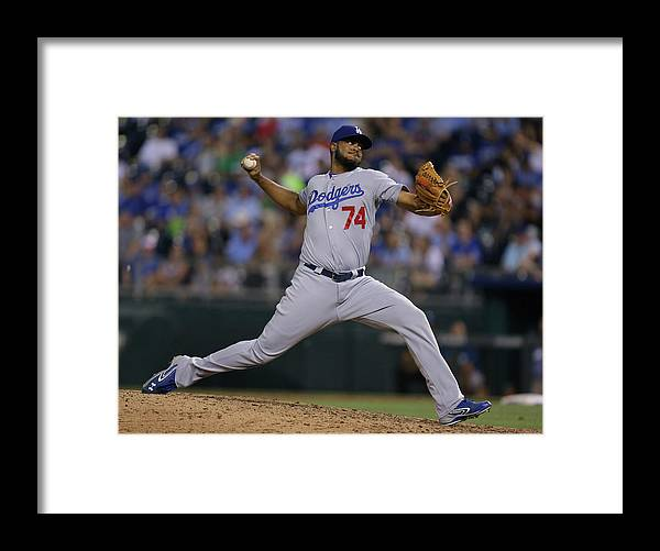 Ninth Inning Framed Print featuring the photograph Kenley Jansen by Ed Zurga