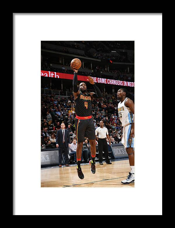 Nba Pro Basketball Framed Print featuring the photograph Kenneth Faried and Paul Millsap by Garrett Ellwood