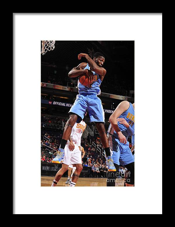 Nba Pro Basketball Framed Print featuring the photograph Kenneth Faried by Barry Gossage