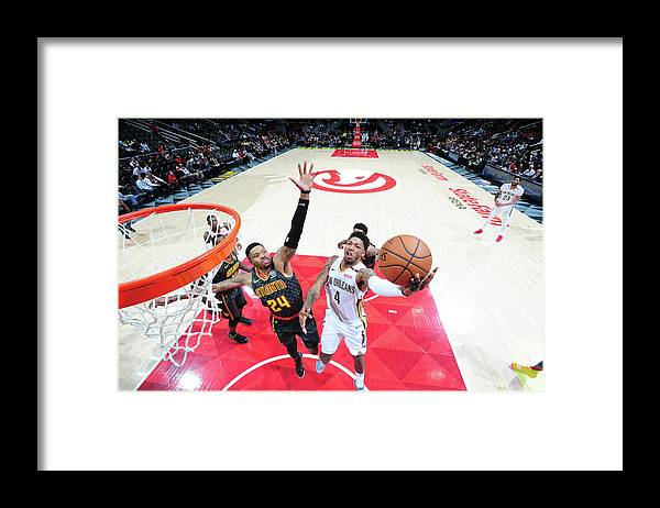 Atlanta Framed Print featuring the photograph Kent Bazemore and Elfrid Payton by Scott Cunningham