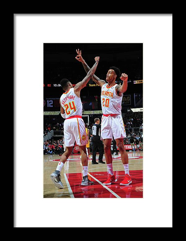 Atlanta Framed Print featuring the photograph Kent Bazemore and John Collins by Scott Cunningham