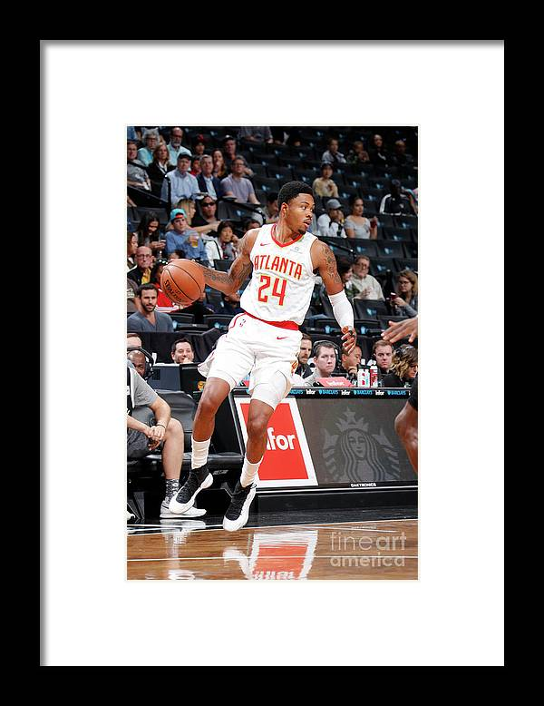 Nba Pro Basketball Framed Print featuring the photograph Kent Bazemore by Nathaniel S. Butler