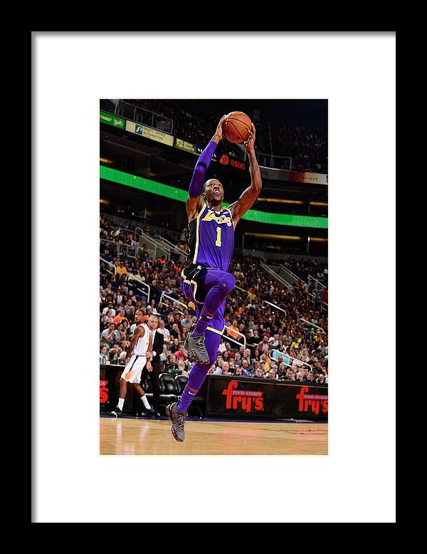 Nba Pro Basketball Framed Print featuring the photograph Kentavious Caldwell-pope by Barry Gossage