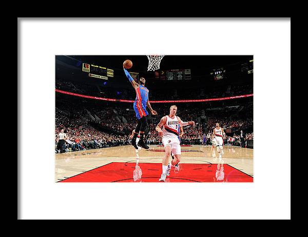 Nba Pro Basketball Framed Print featuring the photograph Kentavious Caldwell-pope by Cameron Browne