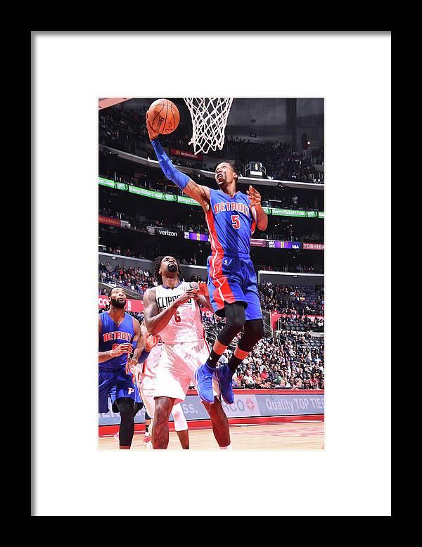 Nba Pro Basketball Framed Print featuring the photograph Kentavious Caldwell-pope by Juan Ocampo